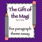 """This CCSS aligned essay prompt asks students to identify a theme in O. Henry's short story """"The Gift of the Magi."""""""