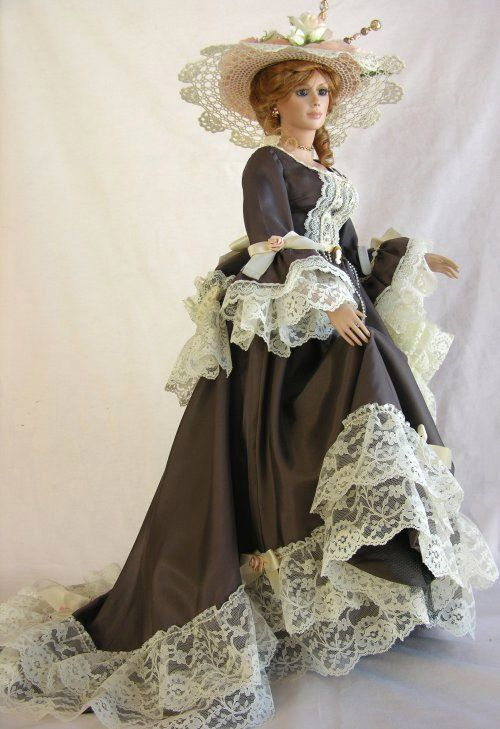 BEAUTIFUL VICTORIAN STYLE, PORCELAIN DOLL...