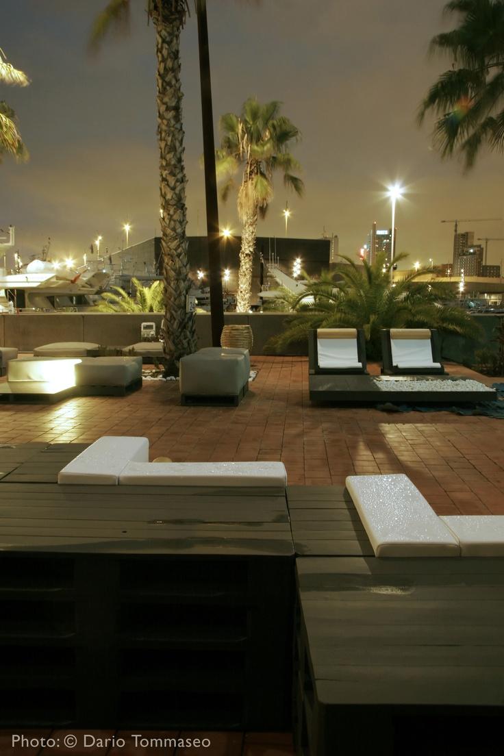 Terraza para disfrutar de las bonitas noches de Barcelona.