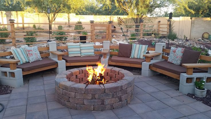 Sturdiness of wood and cinder block - comfort of a sectional!