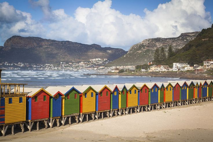 Muizenberg - colourful village along the False Bay coastline. Most iconic homes in this area date back to the Victorian Empire.  #honeymoon #capetown #southafrica