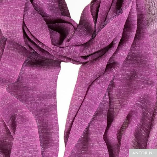 Light Semi Scarf in Purple Tones