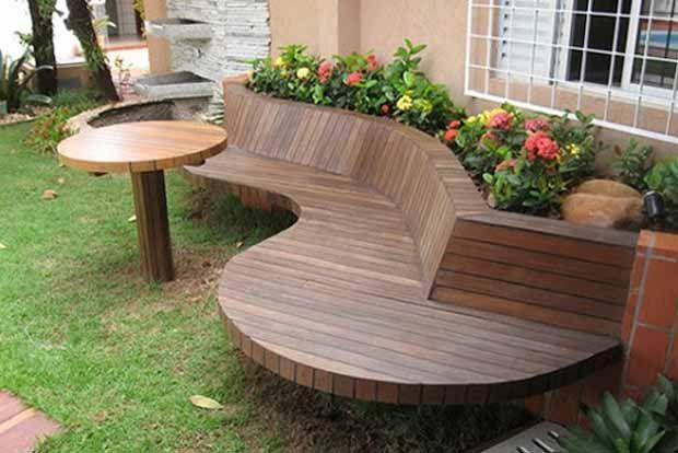 красивые садовые скамейки фото