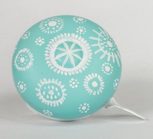 """This is our latest spring edition Bicycle Bell to our """"Gear"""" series with Blue and White contrasting colours. Hand-Painted with glossy smooth finish. Comes in a pvc clear gift box. The best spring gift (not only) for bicycle lovers! :) #uglybell"""
