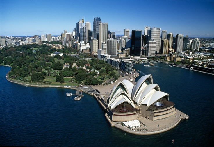 Sydney Opera House and skyline. Photo: Tourism Australia. #Sydney #NewSouthWales #NSW #OperaHouse