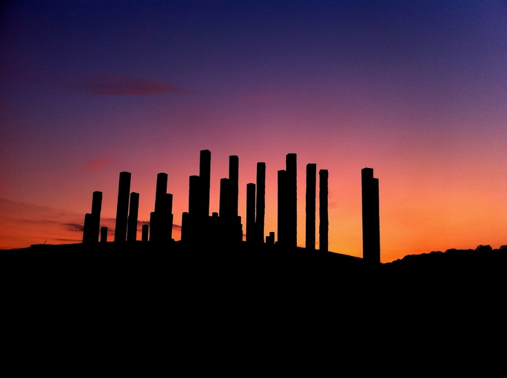 The Stone Forest sculpture at Port Marine, Portishead. Photo by Daniel Knight
