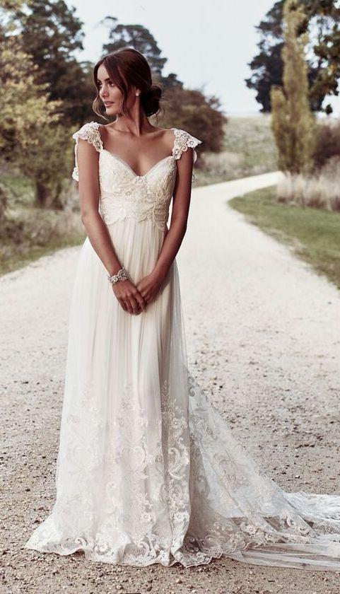 Featured Dress: Anna Campbell; Wedding dress idea.