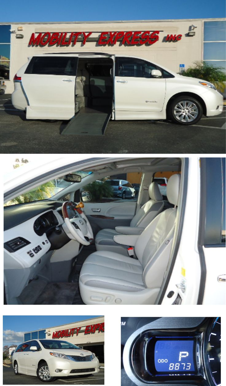 Model year 2011 wheelchair accessible handicap modified toyota sienna limited this van