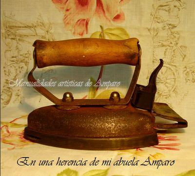 MANUALIDADES ARTISTICAS ANTIGUEDADES Las que habían donde mi tía aun no tenian el mango protector de madera