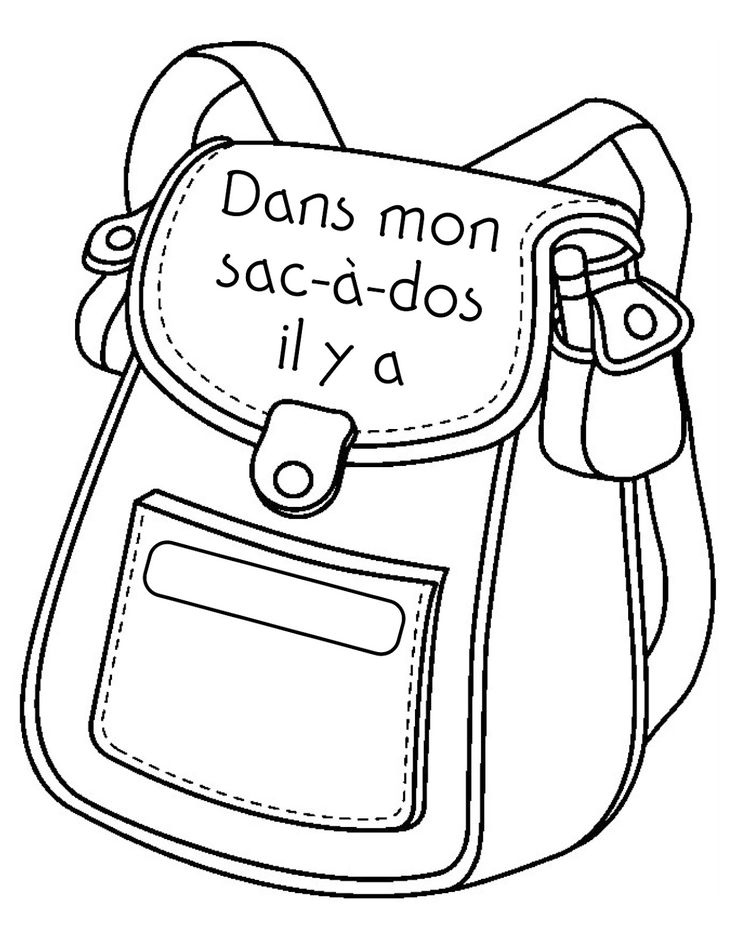 Madame Belle Feuille: dans mon sac-à-dos. This would be great for Spanish school supplies unit.