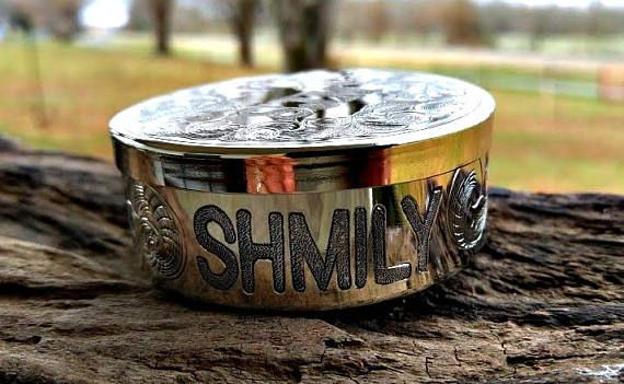 Dip Can and Lid Chew Can Engraved Dip Can Tobacco Can