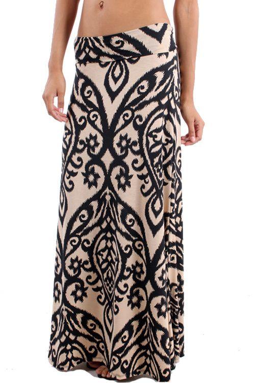 Piace Boutique - Deja Vu Maxi Skirt, $28.99 (http://www.piaceboutique.com/deja-vu-maxi-skirt/)