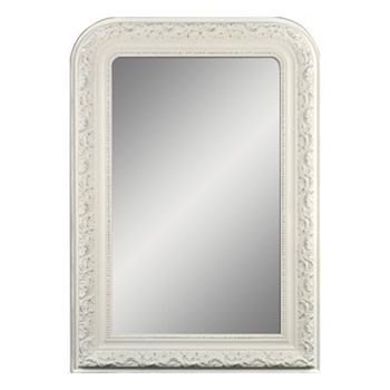 Belle Maison Arched Wall Mirror, White