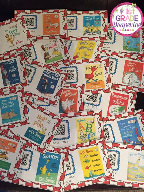 1st Grade Grapevine:    Here are 20 Dr. Seuss book read-alouds, accessed with QR codes.  Perfect for B.Y.O.D.!