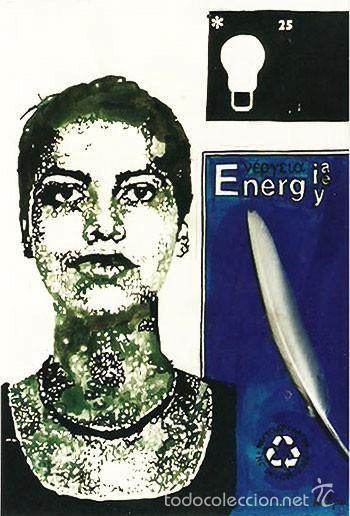 Auri-recycled 1.  Serie La nueva Nefer,2001. Tinta y collage/papel. 40 x 30cms,Alma Ajo