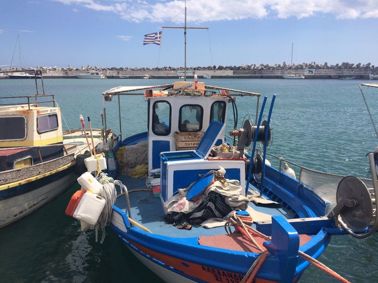 Fishing boat in the harbour of Ierapetra, Crete - 2016.
