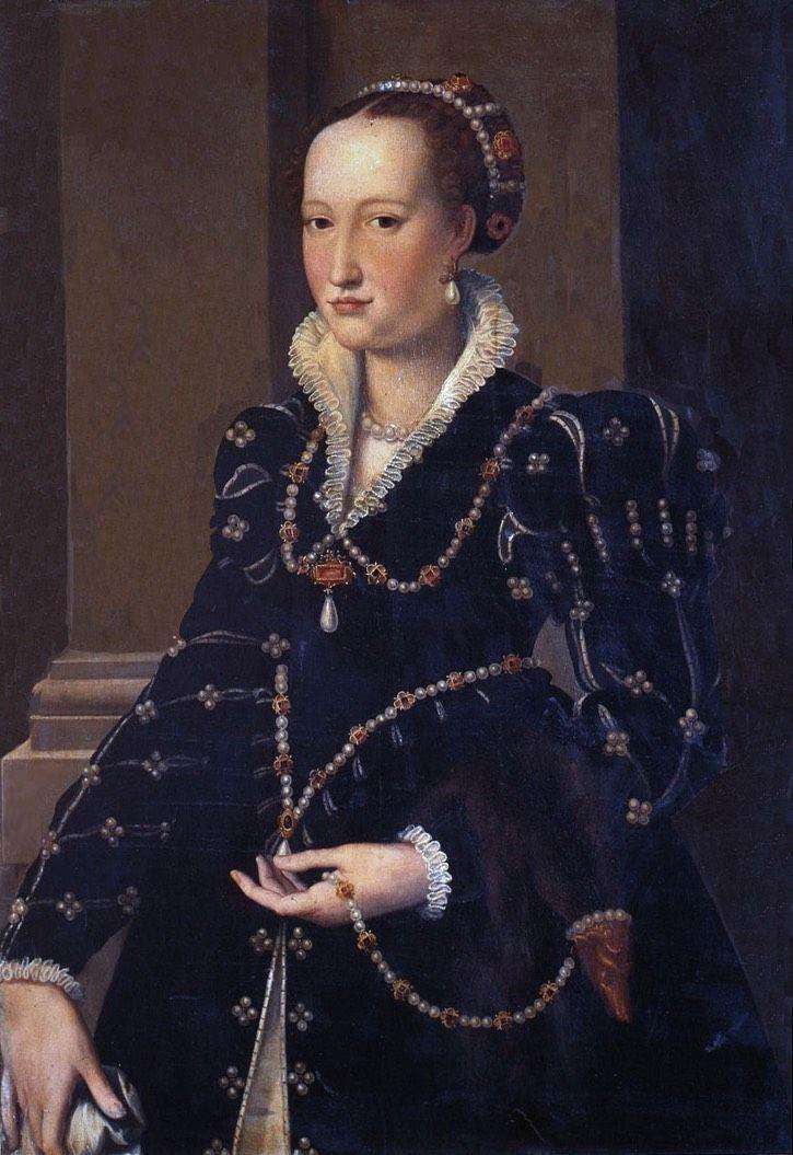 1550-1555 Laudomia di Pierfrancesco de' Medici by Alessandro Allori (Galleria degli Uffizi - Firenze Italy) | Grand Ladies | gogm