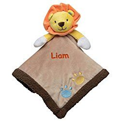 Personalized Lovey the Lion Snuggle Buddy and Rattle - 16 inches (Custom)