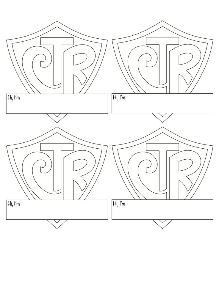 I modified the CTR shield logo to make a name badge for the kids. The shield is from https://www.lds.org/bc/content/shared/content/images/gospel-library/manual/34499/34499_000_frontshield.pdf