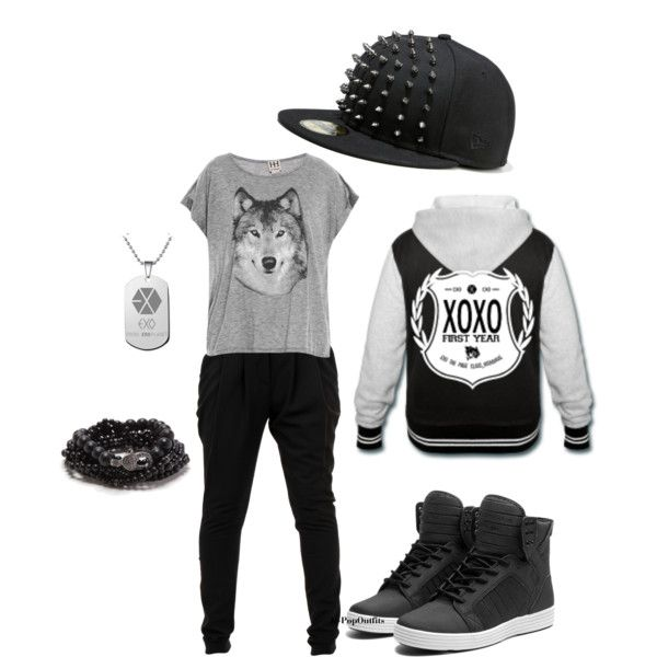 "EXO ""Wolf"" inspired look. Love the jacket and the hat especially!"