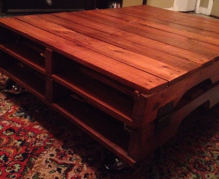 Easy pallet coffee table here 39 s the instructions for the for Pallet coffee table instructions