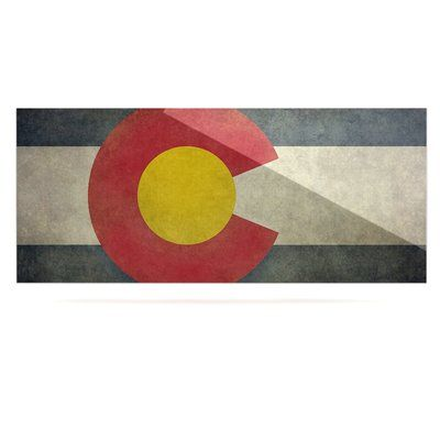 "East Urban Home 'State Flag of Colorado' Graphic Art Print on Metal Size: 16"" H x 20"" W x 1"" D"