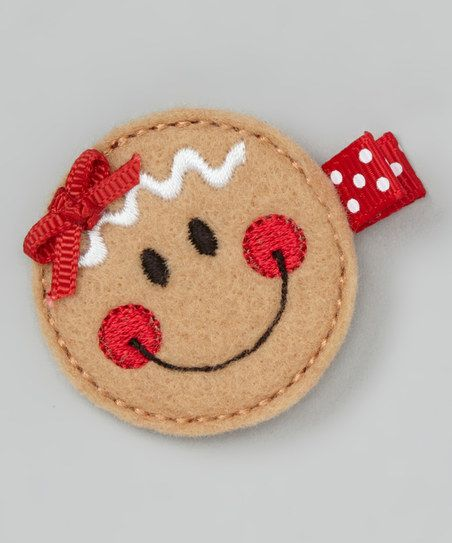 Brown Gingerbread Felt Clip