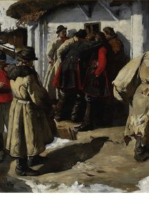 Muzykanci w Bronowicach (fragment), 1891, olej na płótnie. 106 x 182 cm.  Muzeum Narodowe, Warszawa.