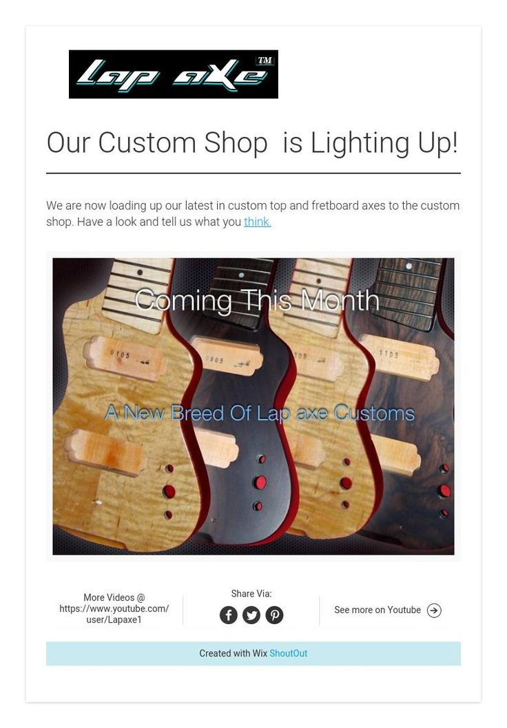 Our Custom Shop  is Lighting Up!