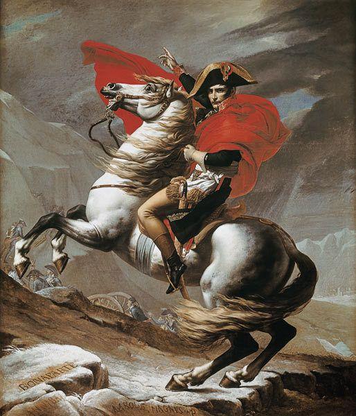 Jacques-Louis David Paris, 1748 - Bruxelles, 1825 Bonaparte franchissant les Alpes au Grand Saint-Bernard mai 1800 Huile sur toile 1801 260 cm x 221 cm