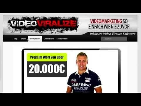 Der Wettbwerb Videomarketing Internet MarketingDer Kostenlose Wettbewerb mit Preise im Wert von über 20.000 € Hier kannst du dich kostenlos zum Wettbewerb anmelden http://videoviralize.info/videomarketing/171384