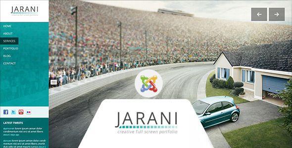Jarani - Creative Full Screen Joomla Template - Portfolio Creative