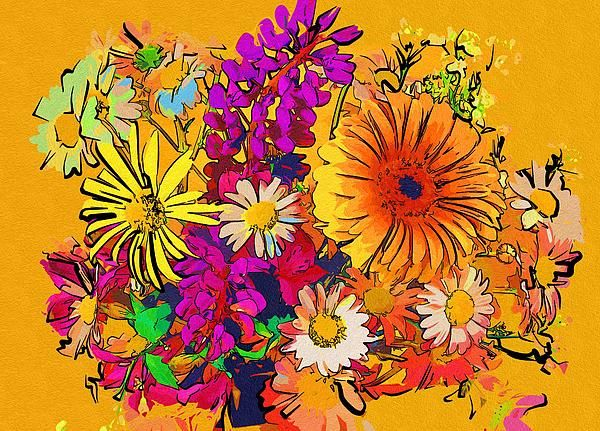 Painting Wild Flowers by Michael Vicin #art #flowers