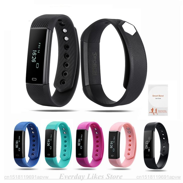 Sporch ID115 Smart Bracelet Fitness Tracker Watch Alarm Clock Step Counter Smart Wristband Band Sport Sleep Monitor Smartband