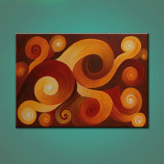 PROGRESS Original Painting Contemporary Abstract by colorblast, $300.00