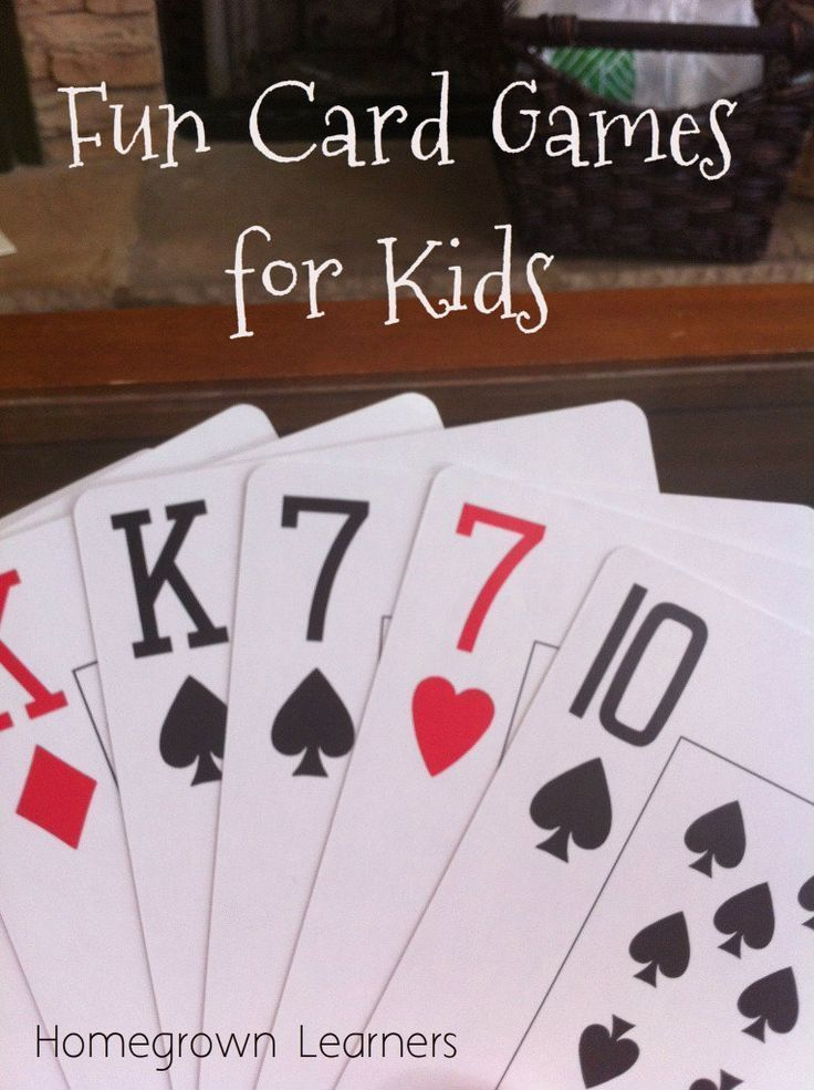 Have Some Fun With Cards Homegrown Learners Card Games For Kids Fun Card Games Card Games