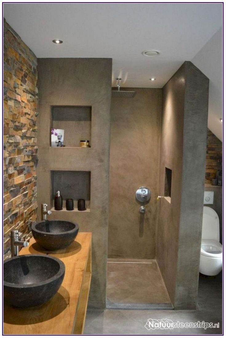 Amazing Bathroom Shelves Ideas Concrete Bathroom Bathroom Design Small Bathroom Interior Design
