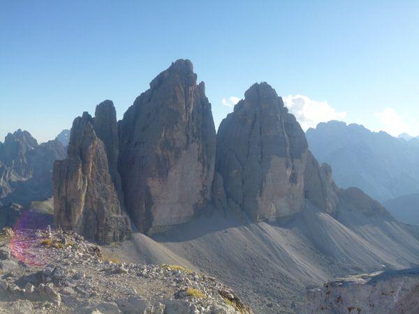 Tre Cime di Lavaredo from Mount Paterno #auronzomisurina #dolomites