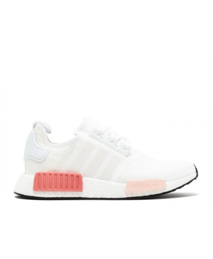 Chaussure Adidas NMD R1 Blanche Rose BY9952