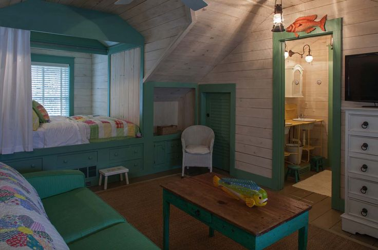 Fish Camp Beach Cottage-Historical Concepts-18-1 Kindesign CUPBOARD BED