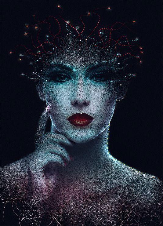 Создаём абстрактный портрет в Фотошоп | Абстрактные ...