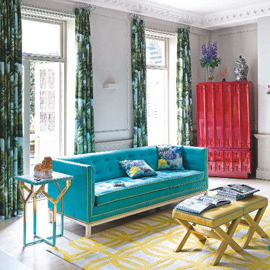 Curtains Ideas bright patterned curtains : 17 best ideas about Bold Curtains on Pinterest | Floral curtains ...