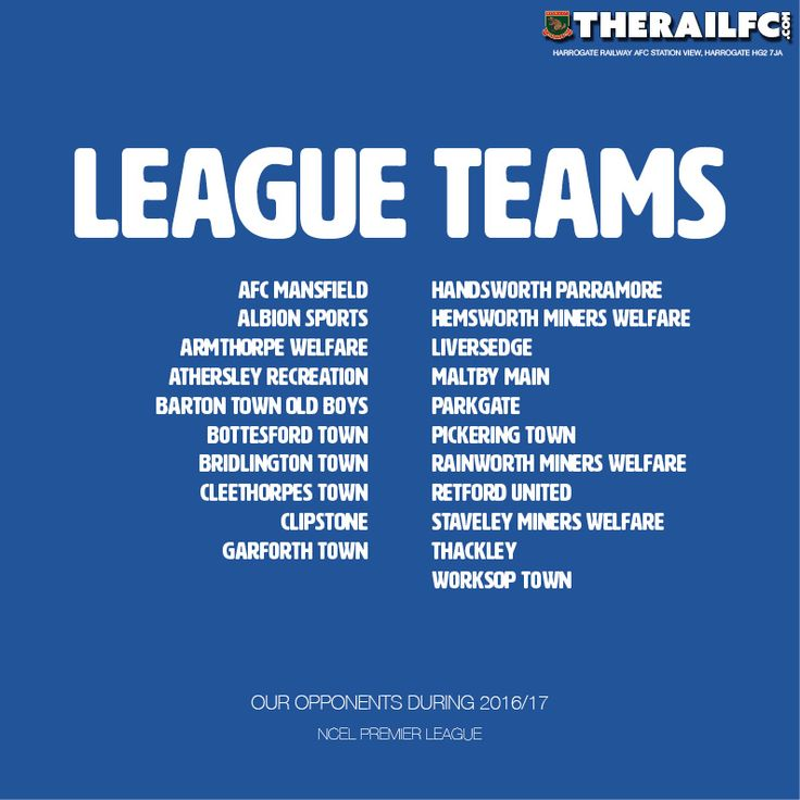 Who's in the NCEL Premier League?    @therailfc #NCEL @Edwhite2507