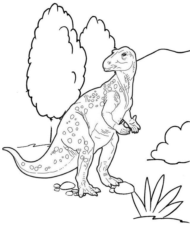 Iguanodon Dino Coloring Page