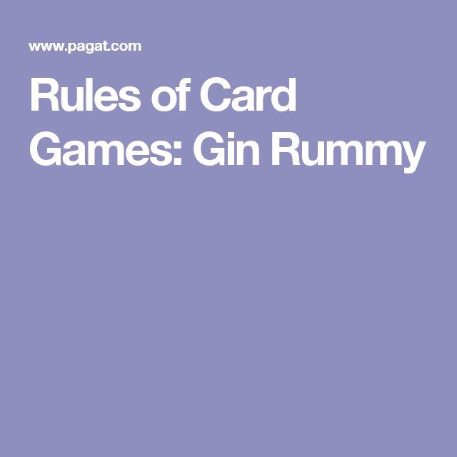 gin rummy rules