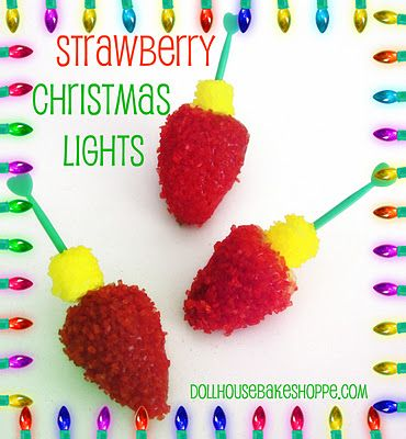 """Strawberry (and marshmallow) """"Christmas Lights"""""""
