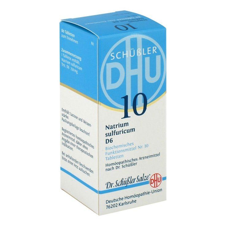 BIOCHEMIE DHU 10 Natrium sulfuricum D 6 Tabletten 80 Stück N1