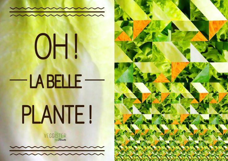 Oh la belle plante !  #Veggister #Florette #Salade #Hipster #Lifestyle #Citation #Quote