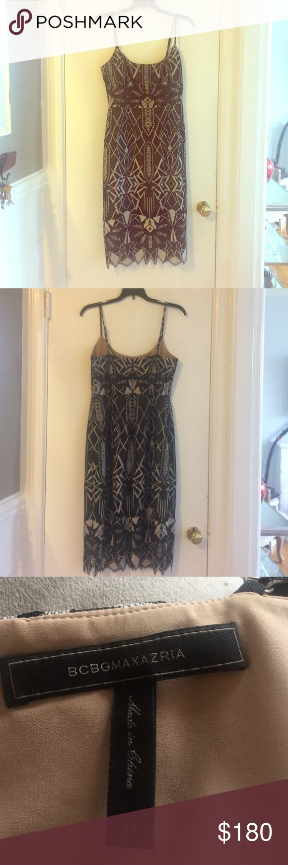 BCBG Max Azria dress BCBG Max Azria dress, size 4. Excellent condition, only worn once. BCBGMaxAzria Dresses