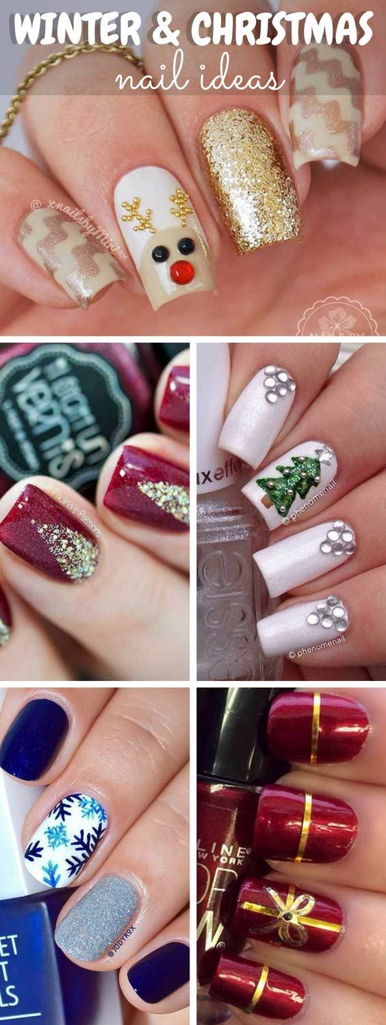 Winter and Christmas Nail Ideas #winter #christmas #xmas - https://www.luxury.guugles.com/winter-and-christmas-nail-ideas-winter-christmas-xmas/